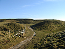 The entrance into Maiden Castle in Dorset