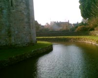 side tower and moat
