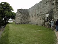 Portchester Castle - modern day entrance in wall - side gate