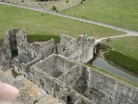 Portchester Castle - Tower From Above