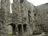 Portchester Castle - Inside walls