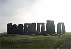 Stonehenge with shafts of sunlight