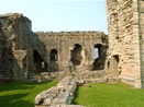 Warkworth Castle - Imposing Medieval Wall Structure
